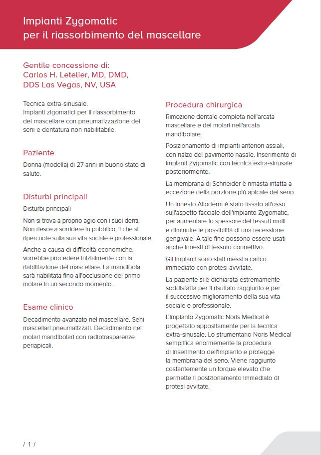 Zygomatic implants for resorbed Maxilla PDF